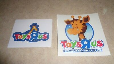 Toys R Us Geoffrey Sticker Colorfast Vinyl  Lot Of 2 Guaranteed Mix And Match