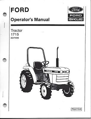 Ford new holland 1715 tractor owners operators manual maintenance ford 1715 tractor operator manual 42171510 fandeluxe Gallery