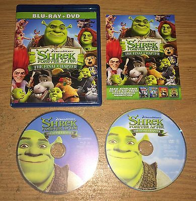 Shrek Forever After The Final Chapter Two-Disc Blu-Ray & DVD Great Movie