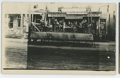 RPPC Band on Street EVERETT PA Bradford County Pennsylvania Real Photo Postcard