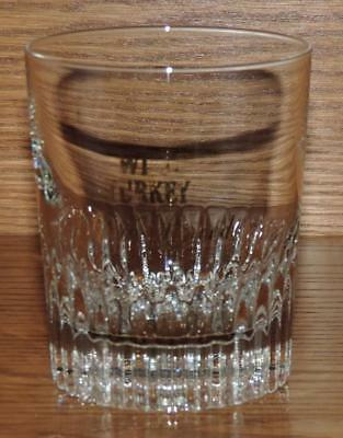 GC VINTAGE 1970's WILD TURKEY RARE BREED BOURBON CLEAR WEIGHTED BASE ROCKS GLASS