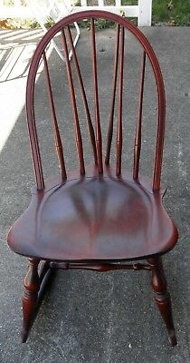 Cool Nichols Stone Co Bowback Windsor Rocking Chair Cherry Gmtry Best Dining Table And Chair Ideas Images Gmtryco