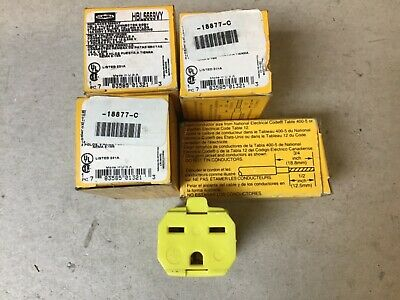 Hubbell HBL5669VY Valise Connector 18877-C-Lot of 4 NIB