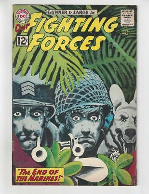 Our Fighting Forces #71/Silver Age DC War Comic Book/Classic Grey Tone Cover/FN