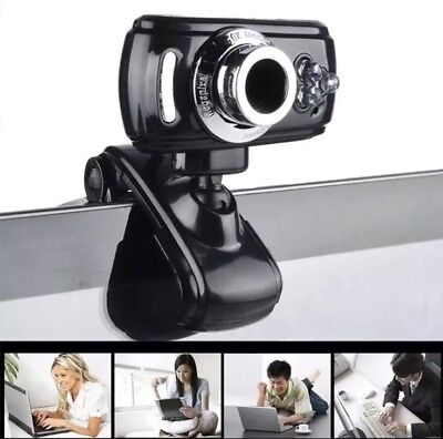 Full HD USB Clip On Webcam Video Camera Microphone for PC Laptop Skype UK SELLER