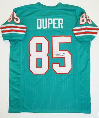 Mark Duper Autographed Teal Pro Style Jersey with JSA Witness Auth *5
