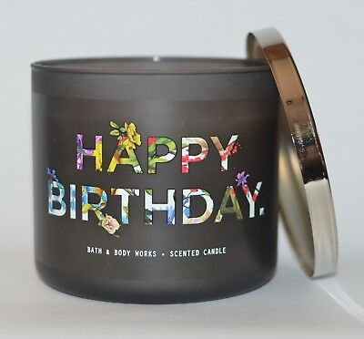 Bath Body Works Happy Birthday Vanilla Bean Scented Candle 3 Wick 145Oz Large