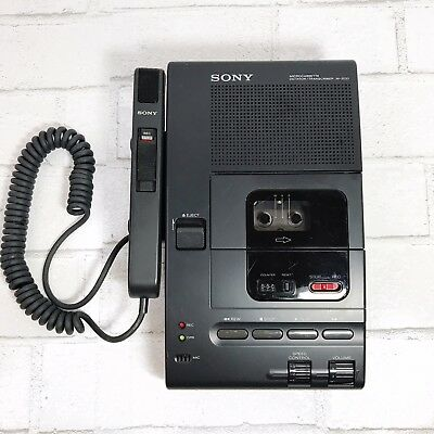 Sony Microcassette Dictator/Transcriber M-2020 and Hand Control Unit Untested