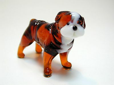 English Bulldog  - Hand Made Art Glass Dog Breeds figurines