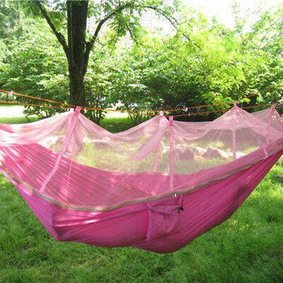 Hammock Single Person Portable Parachute Nylon Mosquito Net Hammock for Ourdoor