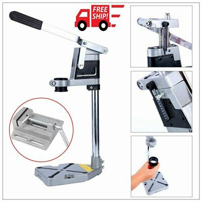 Plunge Power Drilling Stand Bench Pillar Pedestal Clamp & Drill Press Vice 0I