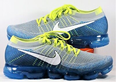 Nike Air VaporMax Flyknit Chlorine Blue Running Shoes Sz 11.5 NEW 849558 022