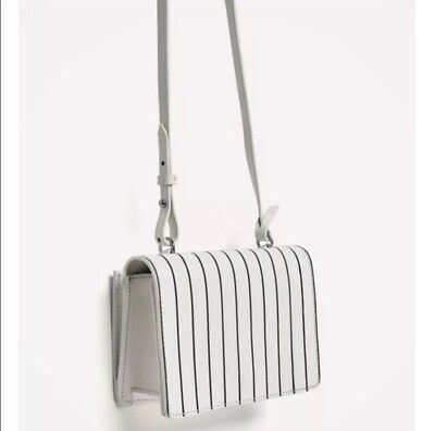 36cc51ca ZARA CONTRASTING STRIPED Leather Crossbody Bag