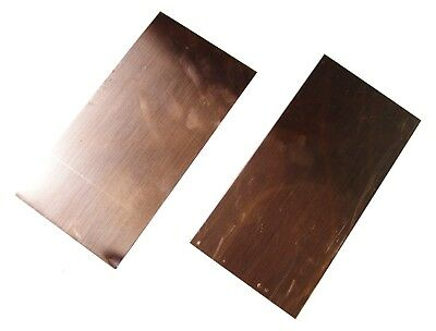 """NEW Copper Sheet - TWO 4"""" x 8"""" pieces - metal working - 16 oz, 24 gauge, crafts"""