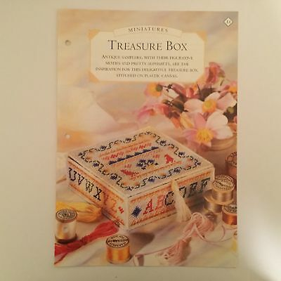 Needlework pattern: Sampler tapestry 3D gift box design and instructions