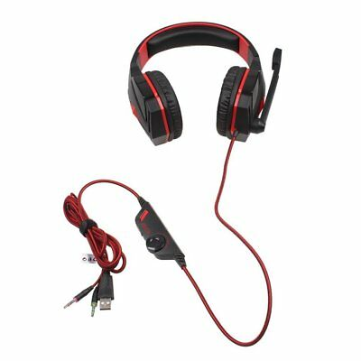 Casque Gaming pour PS4 Xbox one STÉRÉO Gamer avec Micro Anti Bruit LED Rouge