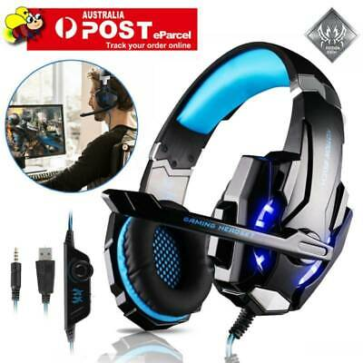 EACH G9000 Pro Game Gaming Headset USB 3.5mm LED Stereo Headphone Microphone AU
