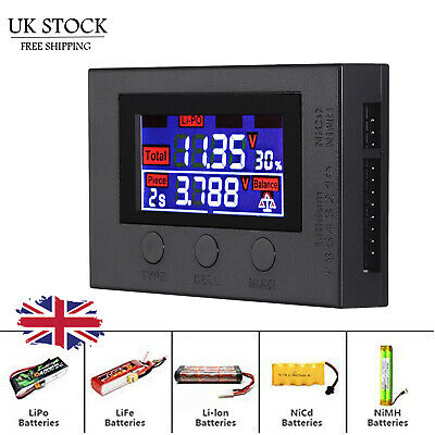 LCD Digital Battery Capacity Tester Checker Controller for Lipo LiFe Li-ion NiMH