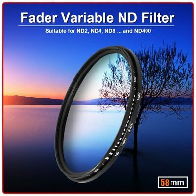 Zomei Adjustable Variable Neutral Density Filter Fader ND2-ND400 58mm BG