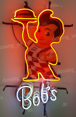 "New Big Boy Bob's Restaurant Diner Lamp Neon Sign 24"" with HD Vivid Printing"