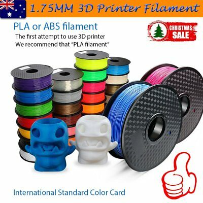 3D Printer Filament 1.75MM ABS PLA 1KG/Roll Multiple Colours Aussie Stock KE
