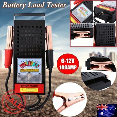 6V 12V Volt Battery Load Tester 100 AMP Truck Boat Bike Car Tester DiagnosticI2