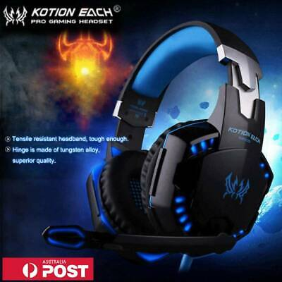 KOTION EACH G9000 3.5mm Gaming Headphone Headset Noise Cancellation Mic LED AUS