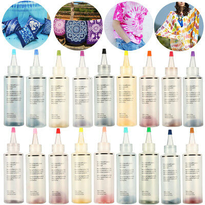 18pcs Tulip One Step Tie Dye Kit Vibrant Fabric Textile Permanent Paint Color