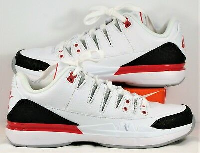 961da9823b570e Nike Zoom Vapor RF X AJ3 Roger Federer Fire Red Tennis Shoe Sz 8 NEW 709998