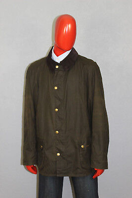 Mens Barbour Ashby Wax Jacket Green Size XXL 2XL