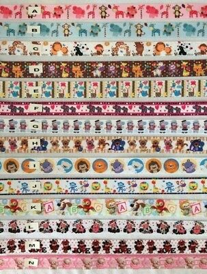 Animals/Bears/Cows/Hippo's/Elephant/ Grosgrain Ribbons All Designs Sold by 1m