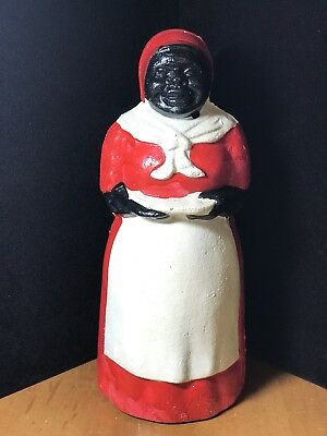 Vintage Style Cast Iron Black African American Aunt Jemima Mammy Coin Bank