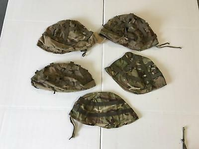 Job lot of British army surplus MTP camouflage helmte covers 5/10/15