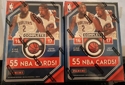 2 x Panini Complete 2016-17 NBA Basketball Trading Cards. 11 pack Box New Sealed