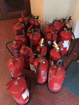 27 FIRE EXTINGUISHER HOME OFFICE CAR KITCHEN....JOB LOT..Water CO2 & Foam
