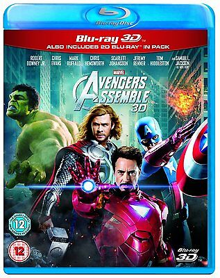 Marvel Avengers Assemble Blu Ray 3D and 2D Brand New Region Free 8717418358570