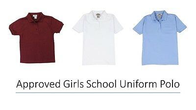 Approved Girl's School Uniform Polo Shirt
