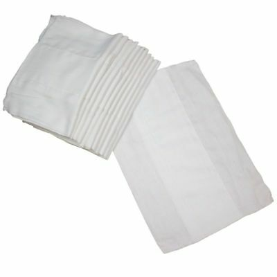 Osocozy - Indian Cotton Prefolds (Dozen) - Soft And Absorbent Baby Diapers Made