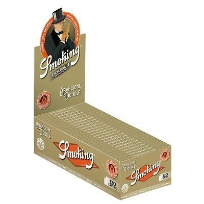 Cartine Smoking Orange Corte Arancioni DOUBLE DOPPIE 25 Libretti 1 box