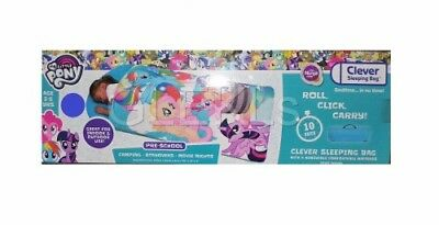 My Little Pony Clever Sleeping Bag Bedtime Childrens Sleep Over Camping Mattress