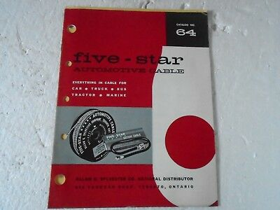 Five Star Automotive Cable Catalog No 64 1950-1963 Car Truck Tractor