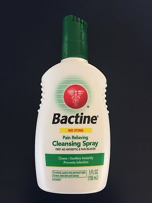 Bactine First Aid Antiseptic And Pain Reliever Cleansing Spray 5 Oz