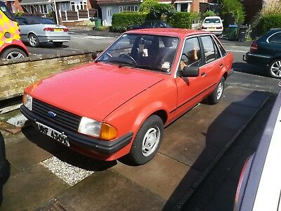 1981 ford escort 1.3 gl 4 door with 23,541 miles from new