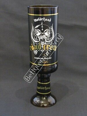 Motorhead Road Crew American Pale Ale/beer Chalice Glass Goblet - 100% Recycled!
