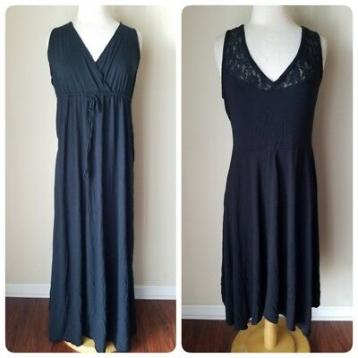 f390d87233 2 Women's Dresses Casual Beach Cover Up Maxi Old Navy Lane Bryant Black 2X  14/