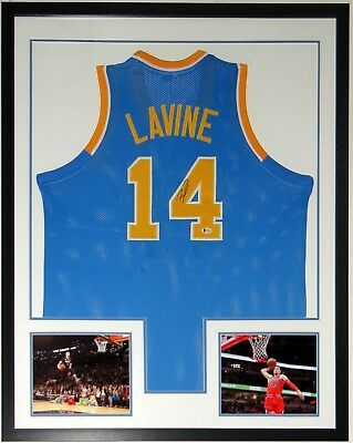 1f52fb6bb Zach Lavine Autographed Jersey Bas Coa Framed Chicago Bulls All Star 8X10  Photo