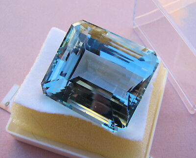 Enorme TOPAZIO LONDON BLUE NATURAL BRAZILIAN TOPAZ GEMSTONE ct. 122