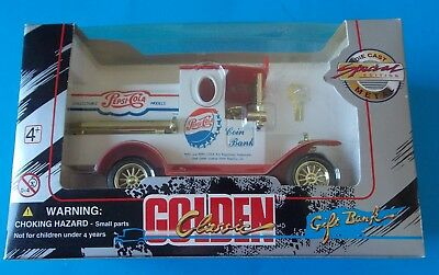 Golden Classic Pepsi-Cola Die Cast Coin Bank In Box