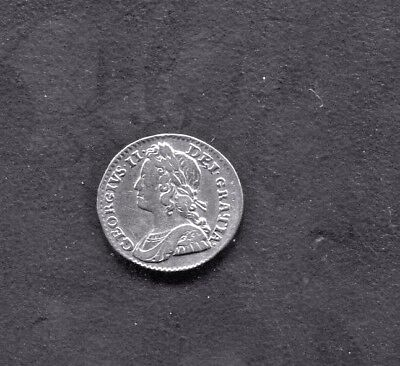 Great Britain - Fantastic Historical George Ii Silver Twopence, 1740 - S.3714 A