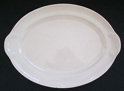 """Taylor Smith Taylor LuRay Pastels Sharon Pink 13.25"""" Oval Platter"""